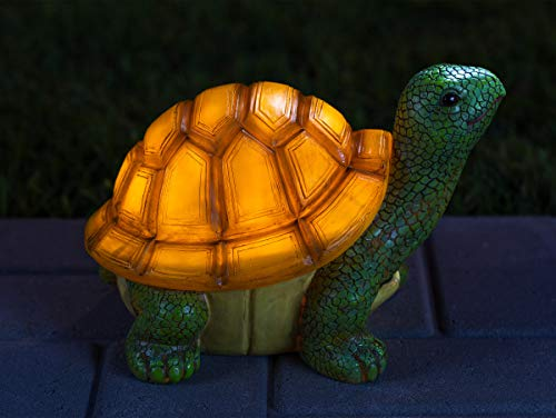 Turtle Solar Powered Outdoor Decor Garden Light with LED Glowing Shell