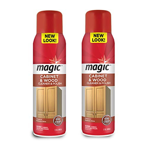 Magic Wood Deep Cleaner and Polish - 17 Ounce (2 Pack) - Heavy Use Wood Furniture Cabinet Table Chair Natural Brazilian Carnauba Wax and Oil - Streak-less