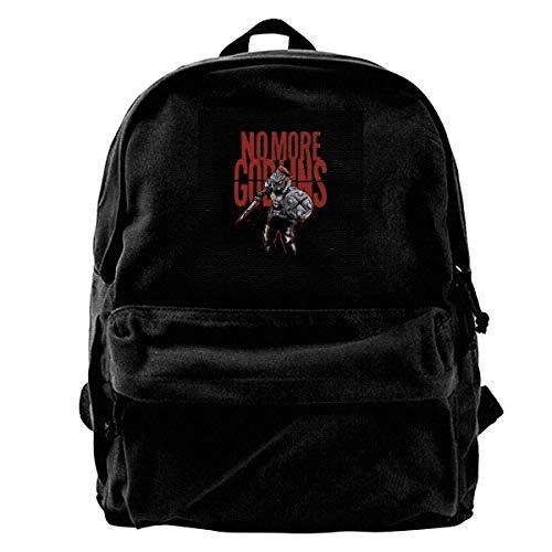 maichengxuan Canvas Backpack Goblin No More Goblins Rucksack Gym Hiking Laptop Shoulder Bag Daypack for Men Women
