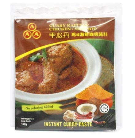 AAA Instant Curry Paste (Curry Kapitan) 180 g – Authentische Instant Kapitan Curry Paste