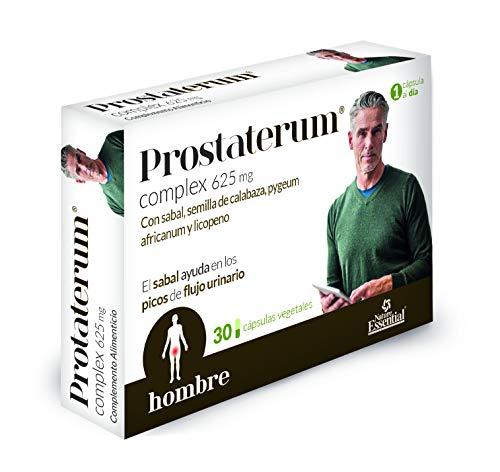 Prostaterum® 625 mg. 30 capsulas vegetales con sabal, semilla de calabaza, pygeum africanum y licopeno