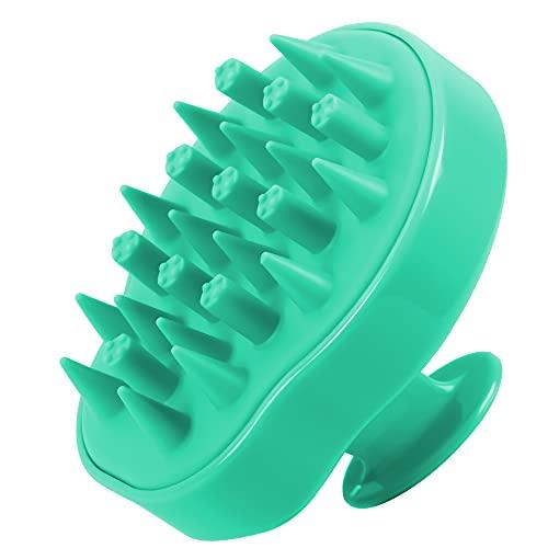 HEETA Hair Scalp Massager, Updated Wet and Dry Hair Shampoo Brush Scalp Massage Brush with Soft Silicone Brush Head Massager (Green)