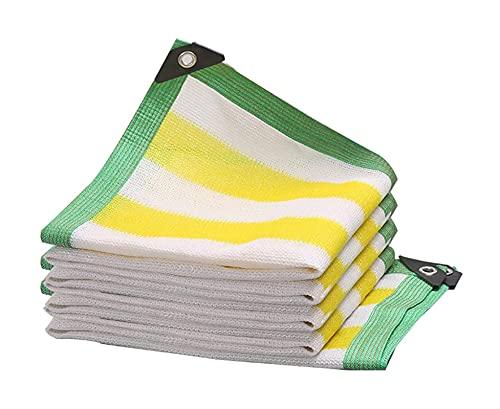 TYHZ Malla sombreo Malla de Sol Amarillo/Blanco 90% Sombrero Sombrero Sombra Sombra Borde Grabado con ujenedas UV Sombra Resistente a la Sombra Black Shade Paño para Invernadero, Aparcamiento, Patio