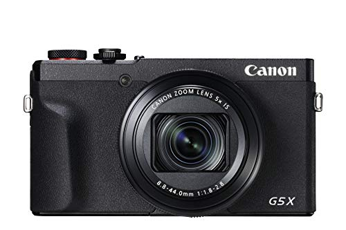 Canon PowerShot G5 X Mark II Digitalkamera (1,0-Zoll-Typ Sensor, 20,1 MP, 7,5cm (3 Zoll) Display, klappbar, DIGIC 8, EVF, 4K, Full-HD, WLAN, Bluetooth, Blendenautomatik; Zeitautomatik) schwarz