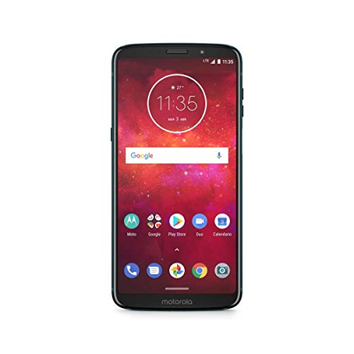 "Motorola Moto Z3 Play Smartphone Android 9 Pie, Display 6.18"" FullHD+, 4/64 GB, Dual SIM, Dual Camera da 12 MP, con Moto Power Pack e Caricabatteria TurboPower [Italia]"