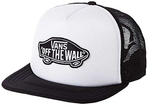 Vans Herren Classic Patch Trucker Baseball Cap, Weiß (WHITE-BLACK YB2), One Size