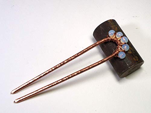 Haarforke, Minimale, aus Kupfer Metall, mit Edelsteine, Haargabel, Haarschmuck, Haar Accessoires