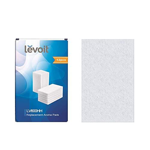Levoit Aroma-Pads (12er-Pack) geeignet für LV600HH-Ultraschall-Luftbefeuchter für warme und kühle Nebel, auch für LV450CH, LV550HH-Luftbefeuchter