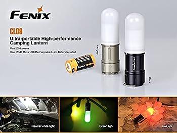 FENIX CL09 Mini Lanterne Noir Mixte