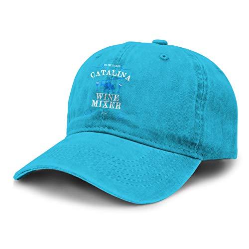 LX-LINK Catalina Wine Mixer Pow Vintage Washed Distressed Dad Hat Funny Adjustable Baseball Cap for Women