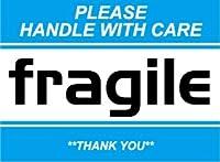 SK-058 FRAGILE 荷造りステッカー大 スーツケースや機材ケースに! (BLUE)