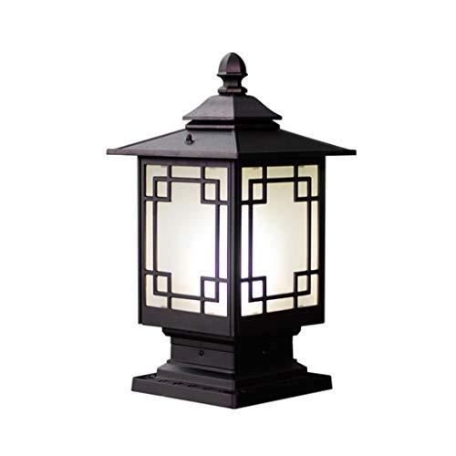 JJZXD Lámpara de jardín al Aire Libre, lámpara de Pared para el hogar, lámpara de Cabeza de Poste, lámpara de Poste de Puerta, lámpara Impermeable para jardín, Villa, terraza, Parque, Puerta, lámpara