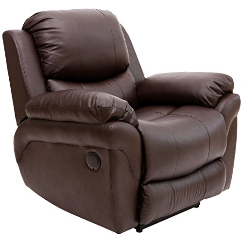 More4Homes (tm) MADISON ELECTRIC BONDED LEATHER AUTOMATIC RECLINER ARMCHAIR SOFA HOME LOUNGE CHAIR (Brown)