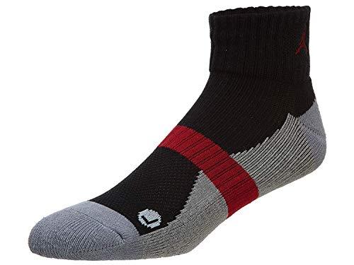 Jordan Low Quarter para hombre, Multicolor (Negro/Stealth/Gym Red/Gym Rojo), Medium
