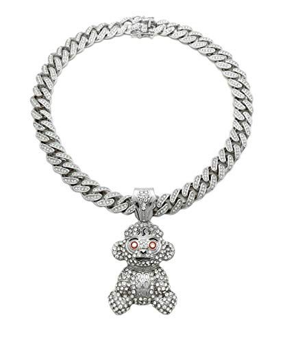 BLINGFACTORY Silver Plated 38 Baby Young Boy Monkey Pendant & 16' 18'...