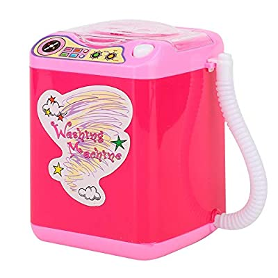 Mini Portable Simulation Washing Machine for Make up Brushes with dehydration function - Quick Cleaning & Quick Drying Washing Machine(02)
