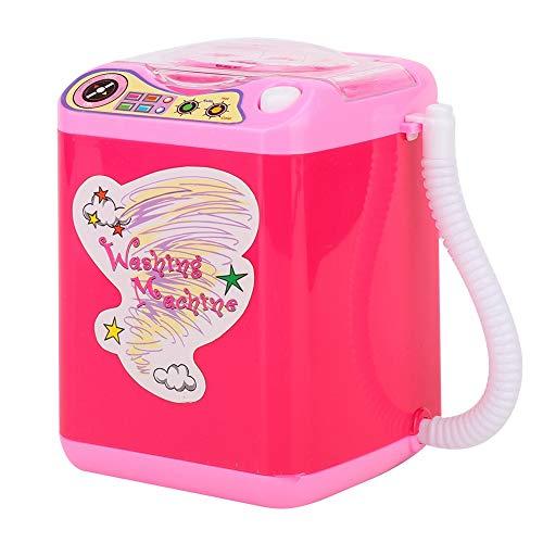 Draagbare 2-kleurige mini-simulatiewasmachine voor make-upkwasten met dehydratiefunctie – snelreinigings- en sneldrogende wasmachine 2