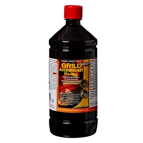 Best Sporting flüssiger Grillanzünder für Holzkohle und Briketts, Sicherheitsanzünder 1 L Flasche (1 Flasche)