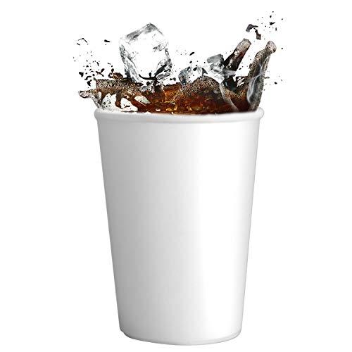 Skiokko - 350 Ml 13 Oz Set di 100 Bicchieri Birra in Cartoncini Biodegradabili Comodo per Contenere L'intera Bibita in Lattina o Bottiglia da 33cc, Ottima Anche per Il Food, Cipster Pop Corn