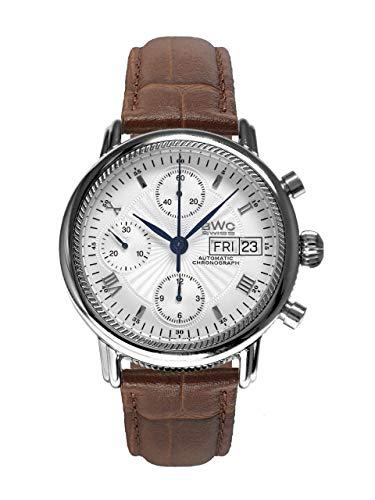 BWC-Swiss 200235003 - Reloj cronógrafo automático con Correa de Piel para Hombre