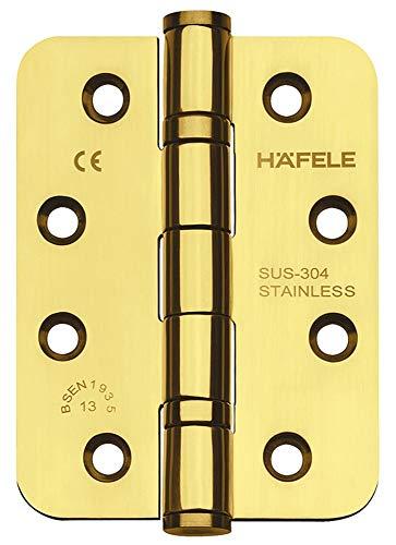 JUVA deurscharnier roestvrij staal PVD messing gepolijst schroefband Startec DHB3221 voor ongevaarde binnendeuren | draagkracht tot 120 kg | schroefscharnier voor houten deuren | 1 stuk - scharnier met schroeven