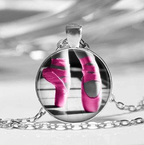 Ballett-Glas-Anhänger Halskette Ballett-Hausschuhe Tanz-Klasse Glasanhänger Tanz-Lehrer-Geschenk