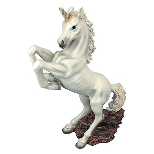 Design Toscano DB383015 Sculpture de Licorne enchantée, Multicolore, 14 x 35,5 x 42 cm