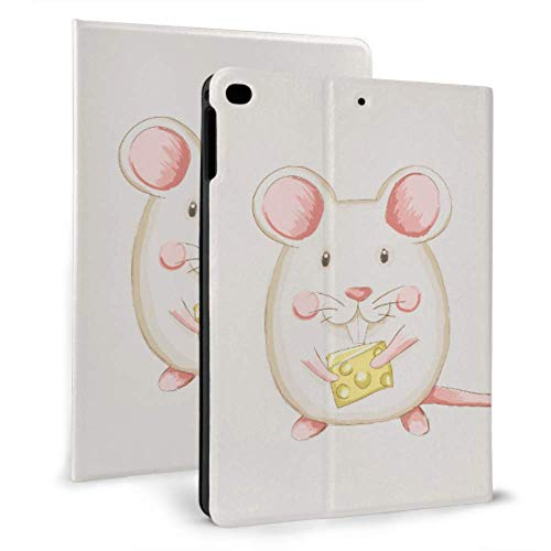 Cute Ipad Case Cute And Funny Mouse Running Rringing A Cheese Ipad Protective Case For Kids For Ipad Mini 4/mini 5/2018 6th/2017 5th/air/air 2 With Auto Wake/sleep Magnetic Ipad Case Cover