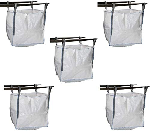 MULTISAC 40. 5 Big Bags (FIBC) 90x90x90cm 1000 Kg. Ideal para gestión de reciclaje, escombros, tierra, áridos, jardinería, etc.