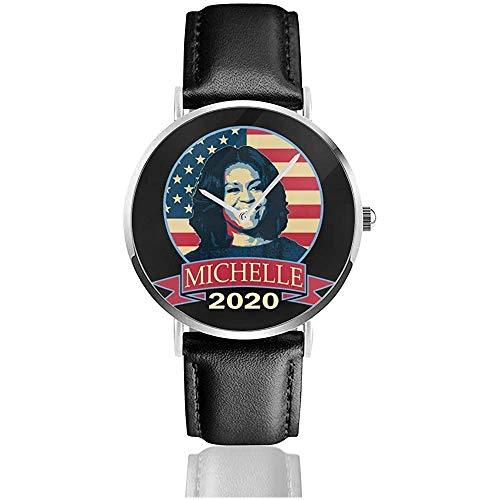 Business Casual Michelle Obama 2020 Uhren Quarz Lederuhr