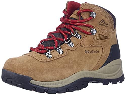 Columbia womens Newton Ridge Plus Waterproof Amped Hiking Boot, Elk/Mountain Red, 10.5 US