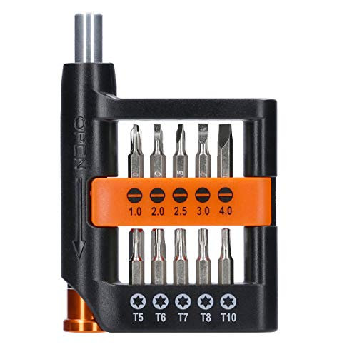 WELLCUT WC-MPS21U 21 Pieces Multi Small Precision Hex Torx Mini Screwdriver Bits Set for Multiple Use