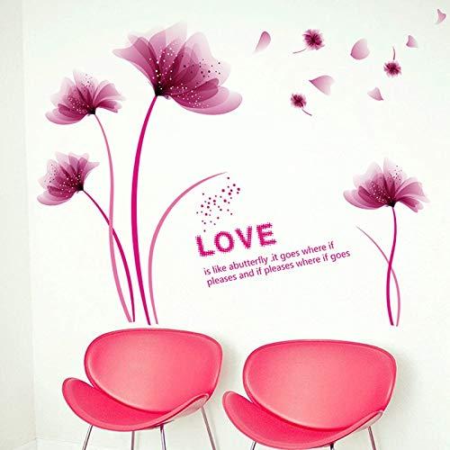 Mode Romantische Bloei Bloemen Home Decoratie Art Stickers Muurstickers Woonkamer Slaapkamer Achtergrond Decoratie Stickers Behang 60cm X90cm Zwart
