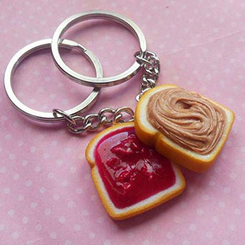 Stawberry Peanut Butter and Jelly Best Friend Key Chain Set