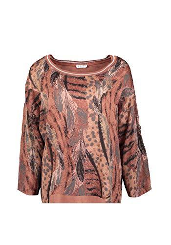 Zabaione Bluse Ella mit Allover- Print, Farbe:Rot, Größe:L/XL