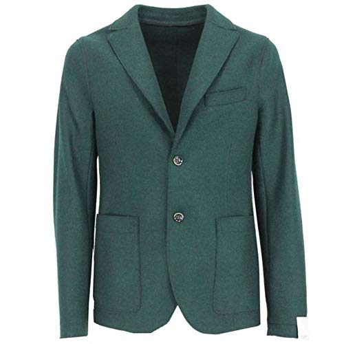 Luxury Fashion | Paolo Pecora Heren 19IC1M0L01131205558 Groen Wol Blazers | Herfst-winter 19