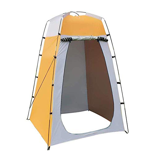 Pop Up Privacy Shower Tent, Instant Portable Outdoor Privacy Tent, Camp Toilet, Changing Room, Rain Shelte for Camping and Beach with Window, Foldable - with Carry Bag,120x120x190cm (Yellow)