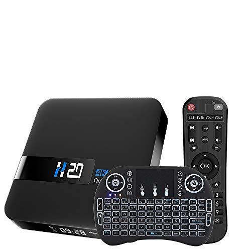 Android TV Box, 2GB 16GB Android 10 Compatible con 4K 3D, RK3229 Dual-WiFi 2.4g / 5g Smart TV Box con Mini Teclado