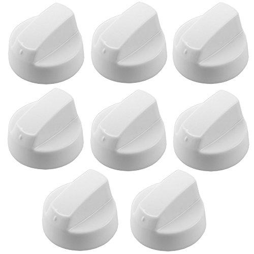 spares2go weiß Einstellknopf für Electrolux Backofen & Herd (Reduzierstück oder 8+ Adapter) Pack Quantity: 8