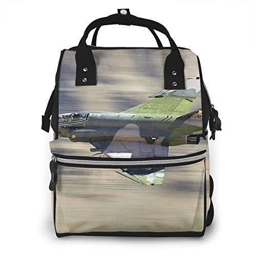 Bolsas de viaje multifunción, mochila para pañales de bebé, para mamá, bolsas de escuela de gran capacidad, impermeable y elegante diseño personalizado, F4 Phantom Fighter Jet