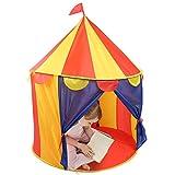 Tenda da gioco per bambini, tenda da gioco per bambini pieghevole da circo pieghevole portatile per bambini con cerniera per ragazzi e ragazze Giochi al coperto e all'aperto (giallo + rosso)(1#)