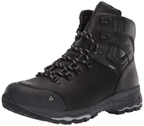 Vasque mens St. Elias Fg Gtx Full-grain Leather Gore-tex Waterproof Hiking Boot, Jet Black, 10 US
