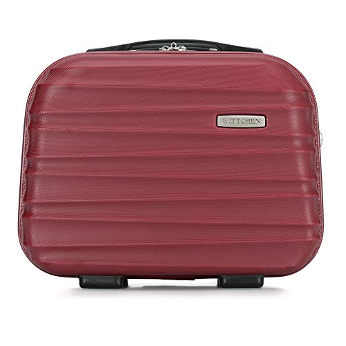 WITTCHEN Kosmetikkoffer Reisekoffer | Burgund | 30x16x34 | Kapazität: 15L | Gewicht: 1kg