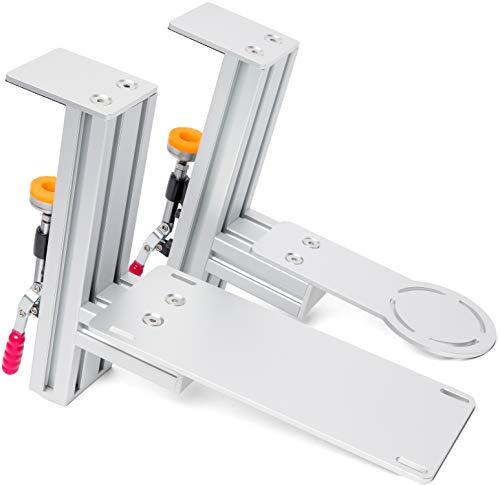 MEZA MOUNT - Tischhalterung kompatibel mit Thrustmaster Hotas Warthog Joystick und Drossel mit allen Montageschrauben und Installationsanleitung (evtl. nicht in deutscher Sprache).