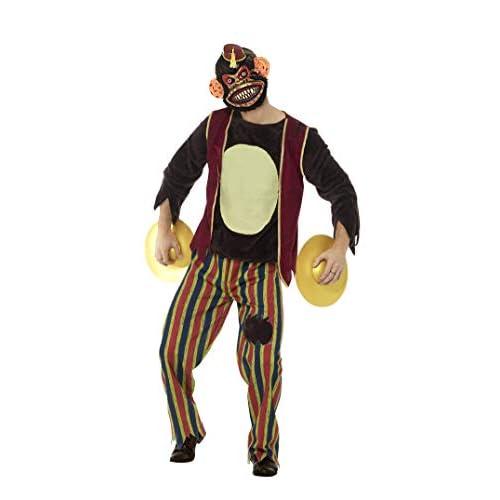 SMIFFYS Costume deluxe scimmia plaudente, Multicolore, con top, pantaloni, maschera in E