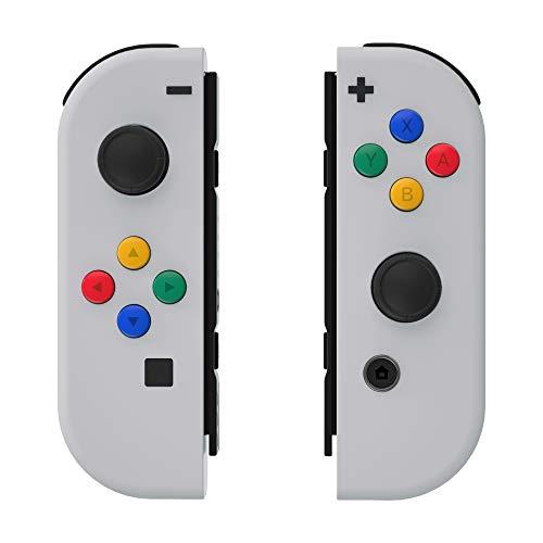 eXtremeRate Carcasa para JoyCons de Nintendo Switch Funda de Agarre Shell Cubierta Tacto Suave con ABXY Drecctión Botones para Nintendo Switch No Incluye Carcasa de Consola(Rapsodia Violeta)