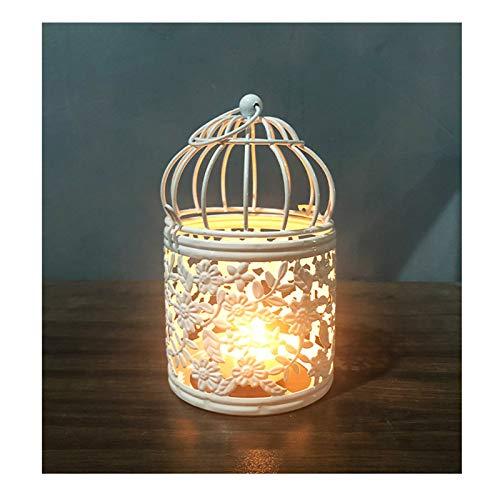 Candelabro romántico de hierro forjado antigüedades a prueba de viento colgar candelabro para el jardín del hogar