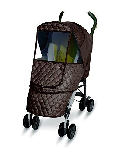 Manito Castle Alpha - Protector para cochecito de bebé, Chocolate