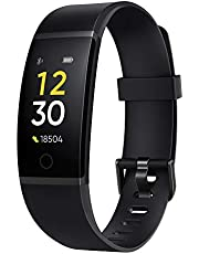 realme Full Color Screen with Touch Key, Real-time Heart Rate Monitor, in-Built USB Charging, IP68 Water Resistant Plastic Band (Black)