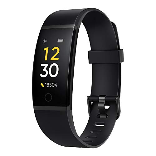realme Band (Black) - Full Colour Screen with Touchkey, Real-time...